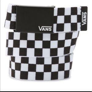 vans checkered belt